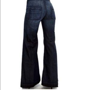 Women's 7FAM Button Fly Jeans Bells BOHO 25